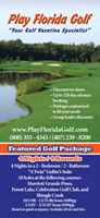 Play Florida Golf Rack Card Front